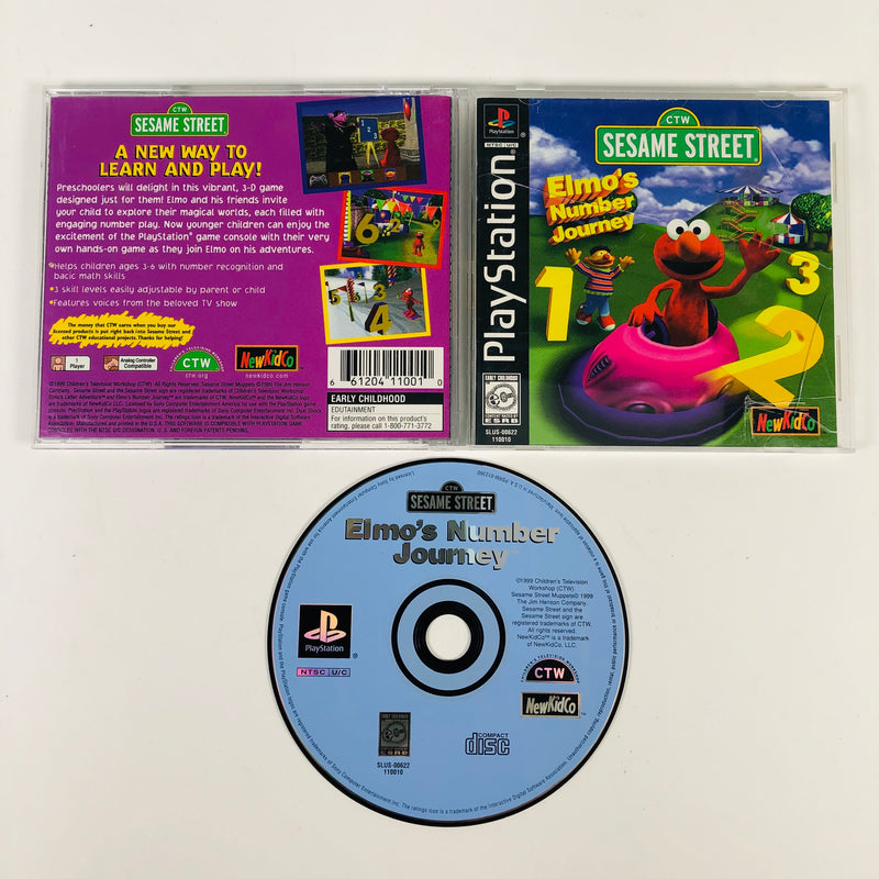 Sesame Street Elmos Number Journey Sony Playstation 1 PS1