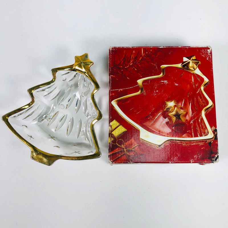 Studio Nova Yuletide Spirit Gold Sweet Dish WX025/503 IOB Christmas Holiday Decoration
