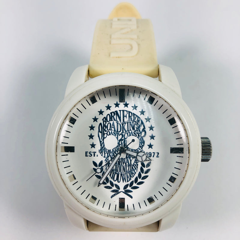 Ecko UNLTD The Emblem Mens White Skull Watch
