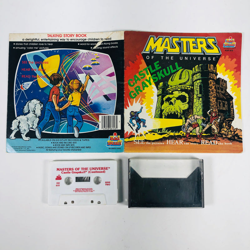 Masters Of The Universe Castle Grayskull Read Along Book & Cassette Tape