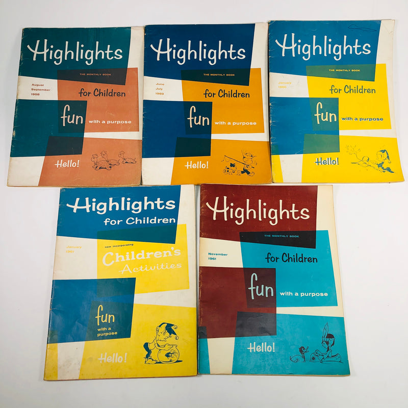 Highlights For Children Magazines Various Dates 1958-1971 Lot