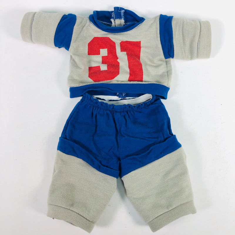 Cabbage Patch Kids CPK #31 Red Blue Grey Shirt & Pants