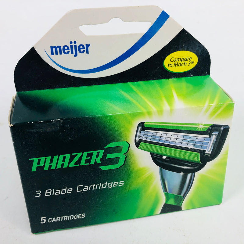 Meijer Phazer 3 - 3 Blade Razor Cartridge (5 Cartridges)