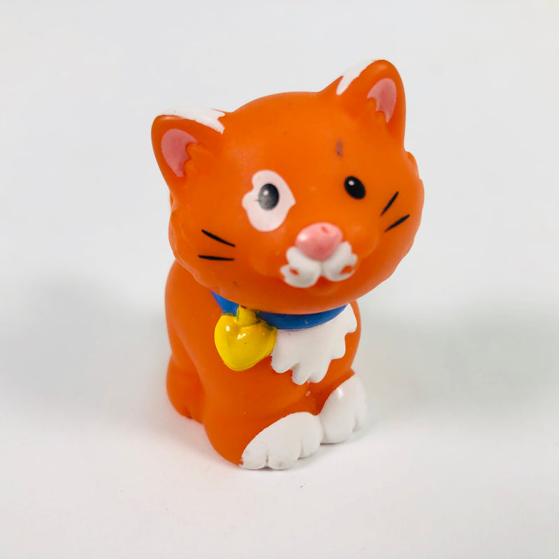 Fisher Price Little People Orange Taby Cat Kitten Farm Animal Toy