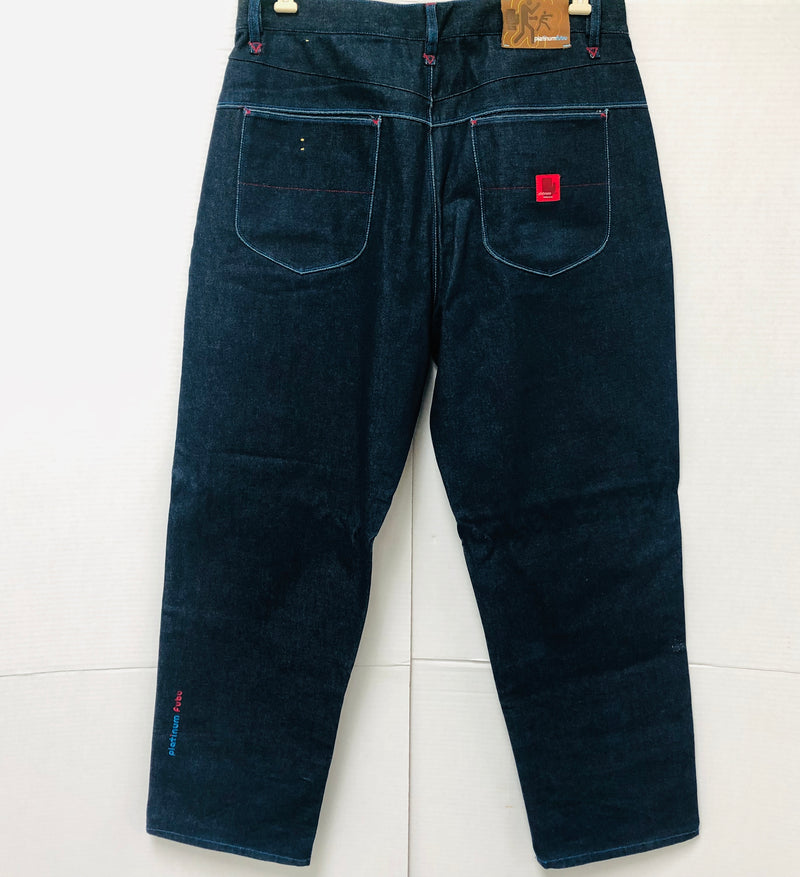 New Fubu Platinum Limited Edition Muhammad Ali Blue Jeans Mens Size 38W 34L