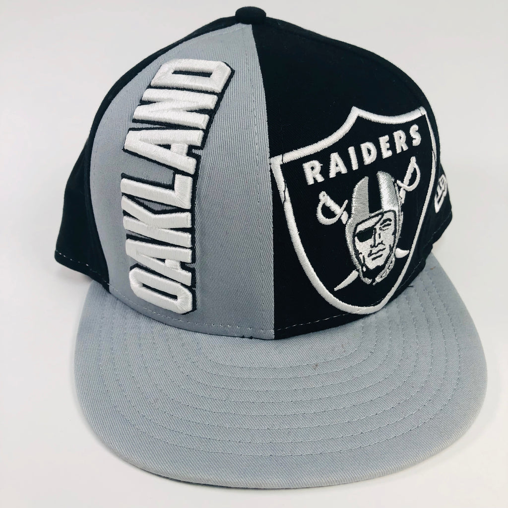 Oakland Raiders New Era 9Fifty NFL Medium-Large Flat Bill Snapback Hat