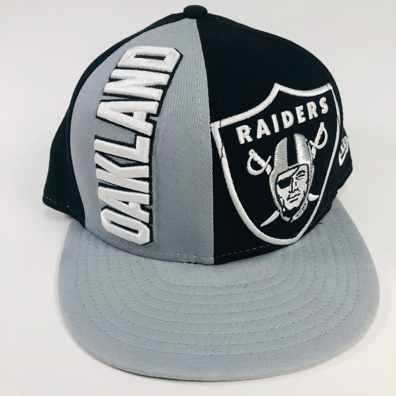Oakland Raiders New Era 9Fifty NFL Medium-Large Flat Bill Snapback Hat –  M15SALES.COM afcace722d0