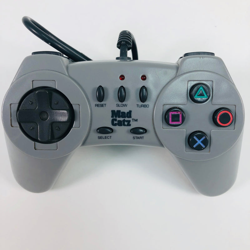 Mad Catz Sony Playstation 1 PS1 Turbo Grey Wired Controller