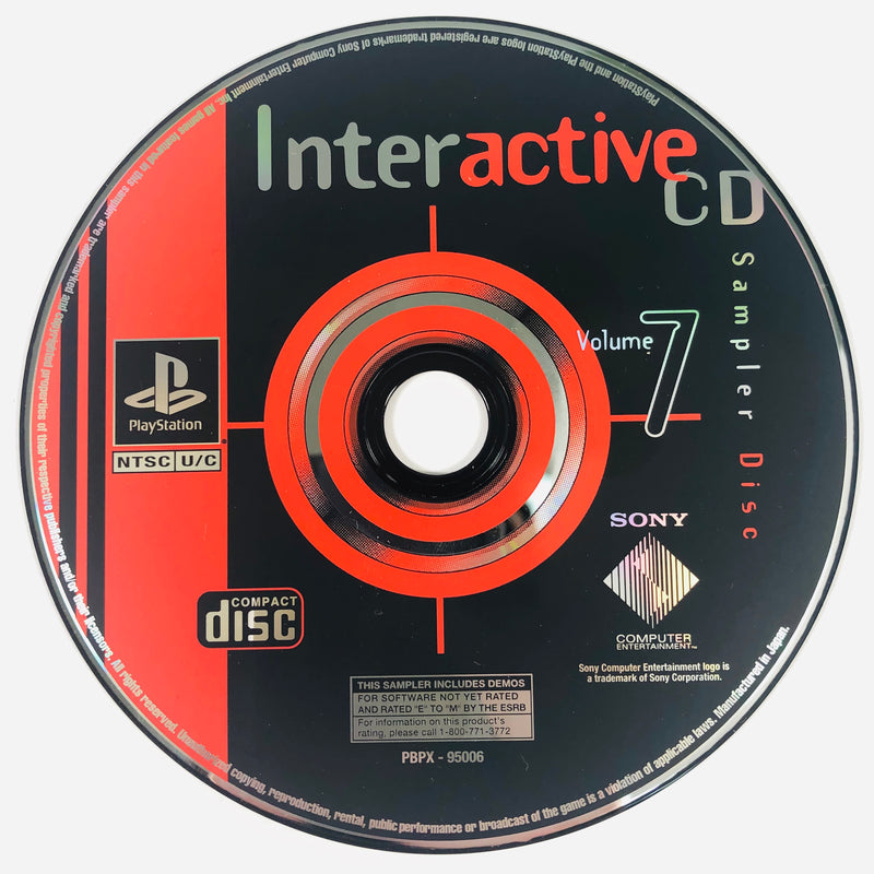 Interactive CD Sampler Disc Volume 7 Sony Playstation 1 PS1