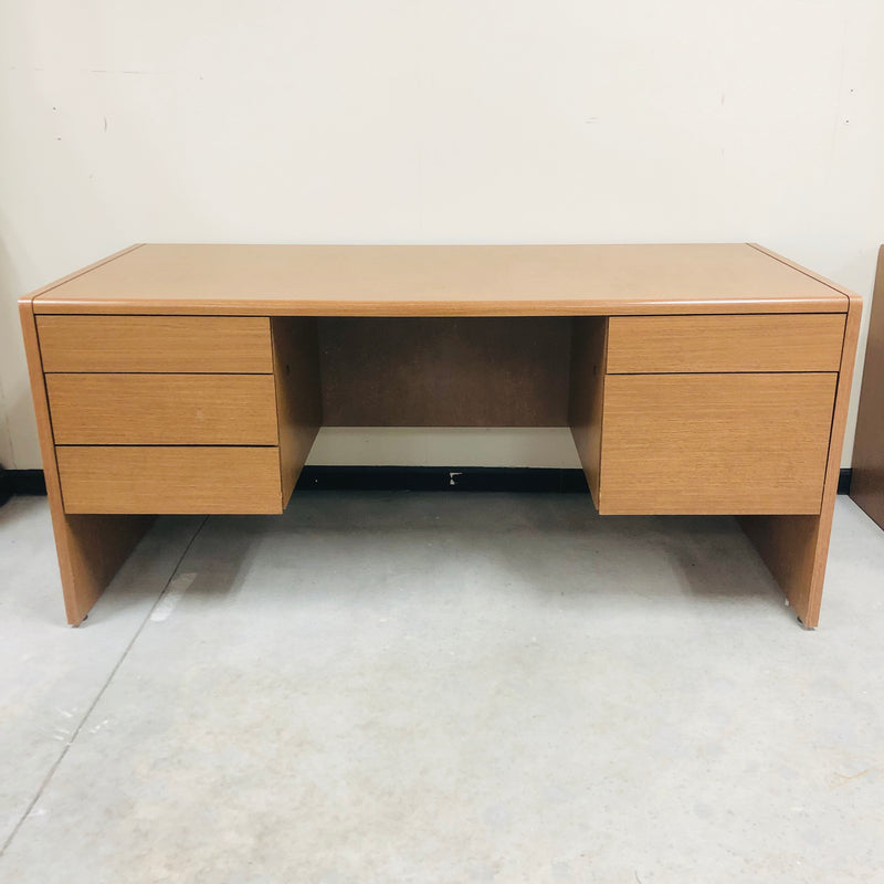Wood 5 Drawer Office Desk