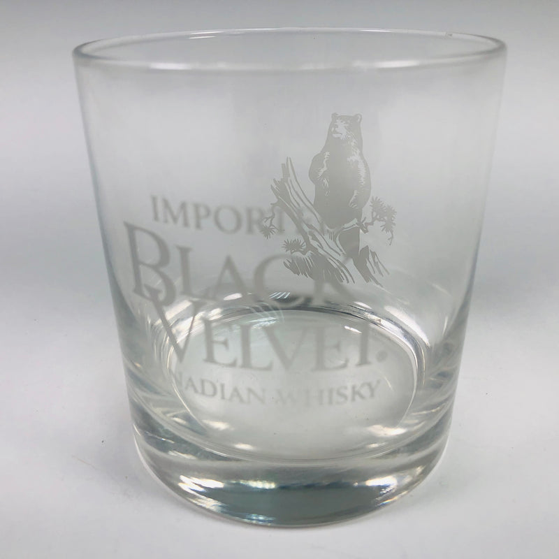 Imported Black Velvet Canadian Bear Logo Whisky Cocktail Glass