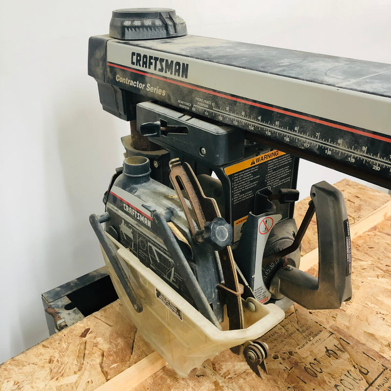 "Craftsman Contact Series 3.0 HP 10"" Radial Arm Table Saw"