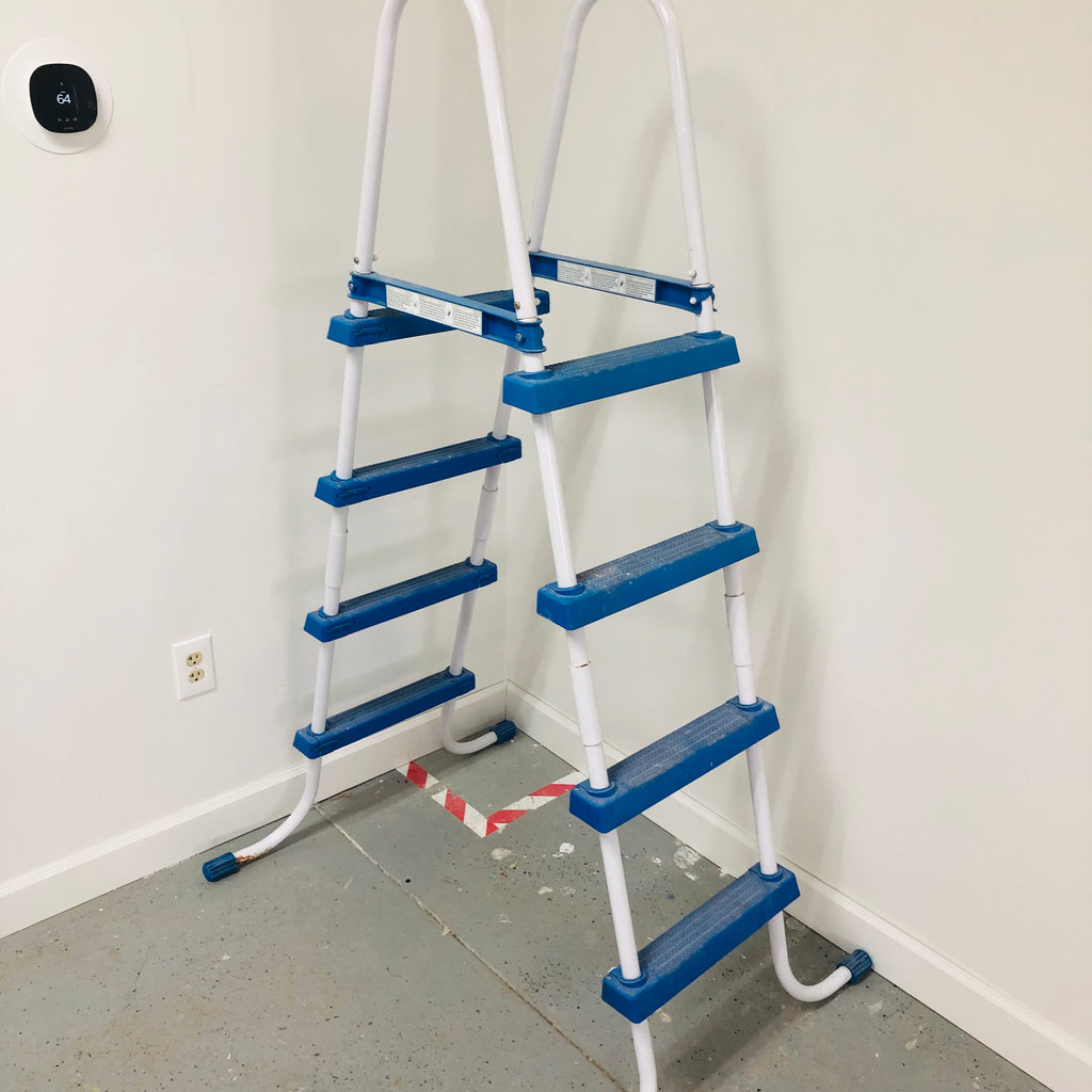 "68"" Blue White Pool Ladder"