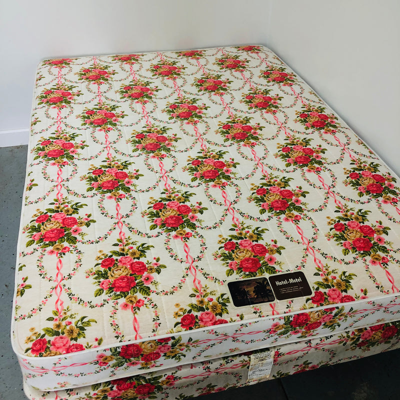 Hotel-Motel Floral Double Full Mattress Box Spring Set