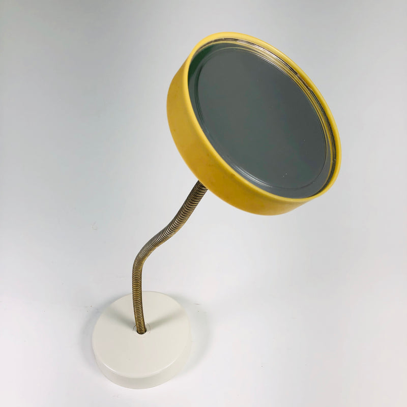 Magic Focus 1975 Vintage Goose Neck White Yellow Makeup Vanity Mirror