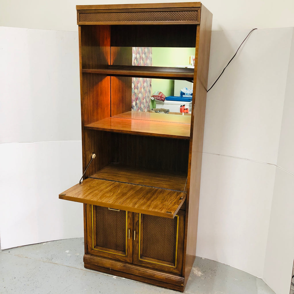 "76"" Secretary Illuminated Storage Shelf Cabinet"