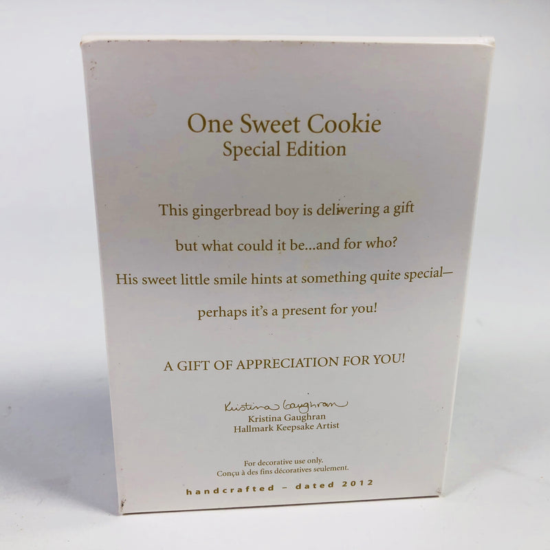 Hallmark Keepsake 2012 One Sweet Cookie Special Edition Handcrafted Christmas Ornament