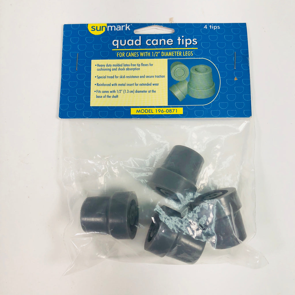 "New Sunmark Quad Cane 1/2"" Tips  196-0871"