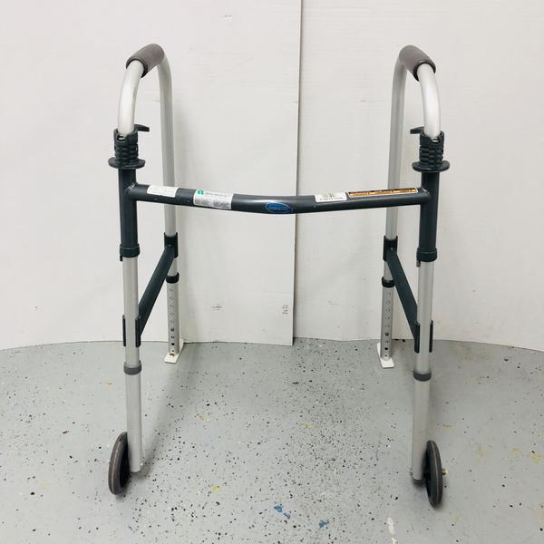 Invacare Adjustable Handicap Walker Wheels w/ Slides 6291-A