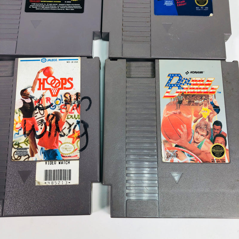 (4) Nintendo Entertainment System NES Games Lot Spy Hunter Hoops Jeopardy Double Dribble