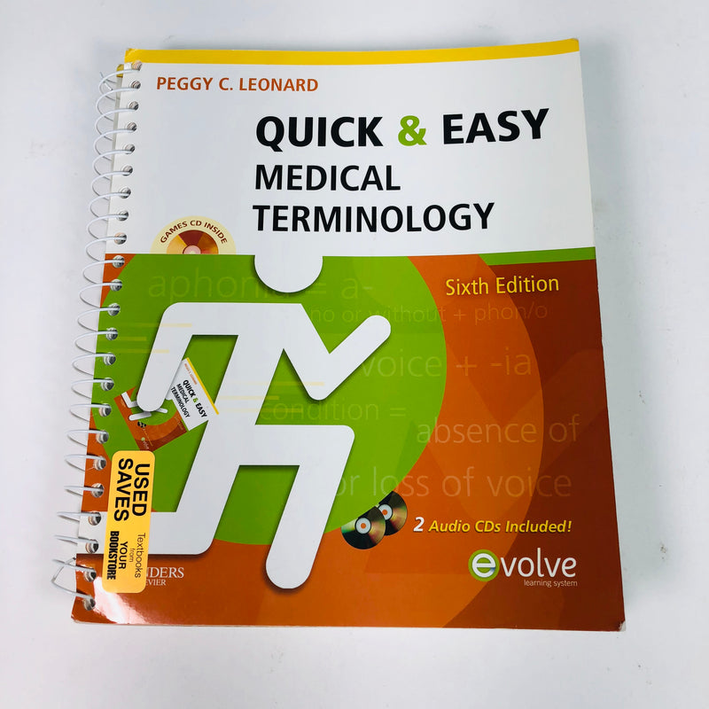 Quick and Easy Medical Terminology Sixth Edition Book w/ CDs
