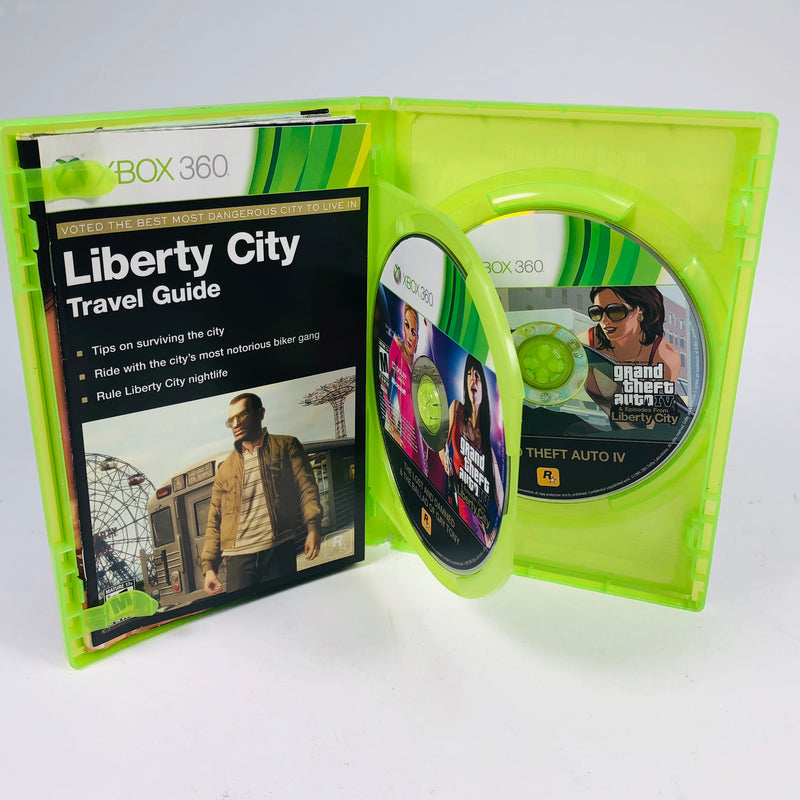 Grand Theft Auto IV GTA 4 & Episodes From Liberty City The Complete Edition Microsoft Xbox 360 Complete