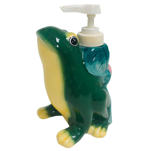 Allure 1998 Hand Painted Frog Soap Dispenser