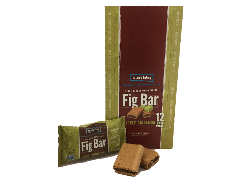 Natures Bakery Apple Cinnamon 12 Count Twin Pack Whole Wheat Fig Bars 100% Natural