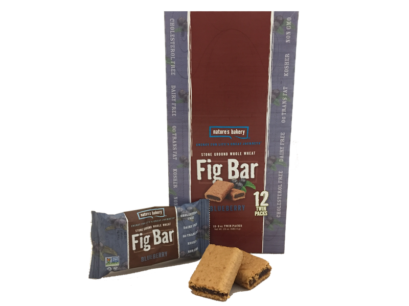 Natures Bakery Blueberry 12 Count Twin Pack Whole Wheat Fig Bars 100% Natural