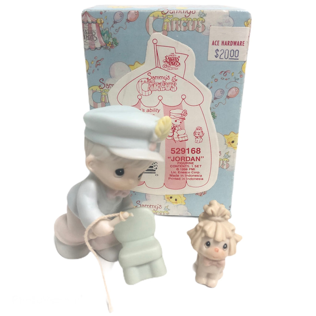 Precious Moments Sammys Circus Jordan + Lion Figurine Set 529168