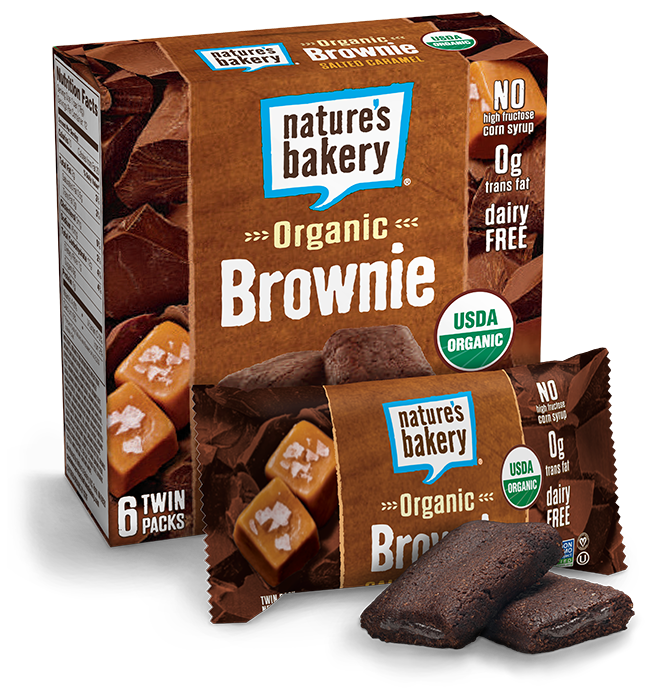 Natures Bakery Chocolate Salted Carmel 12 Count Twin Pack Brownie Bars 100% Natural