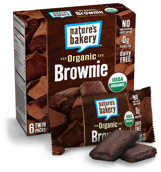 Natures Bakery Double Chocolate 12 Count Twin Pack Brownie Bars 100% Natural