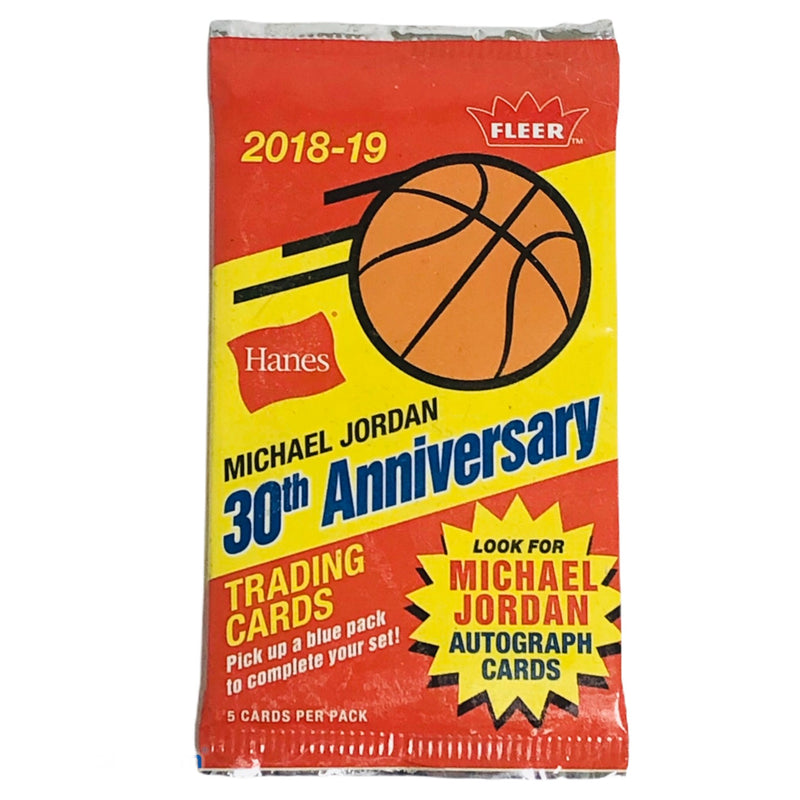Hanes Fleer Michael Jordan 30th Anniversary 2018-19 Basketball Trading Cards Pack