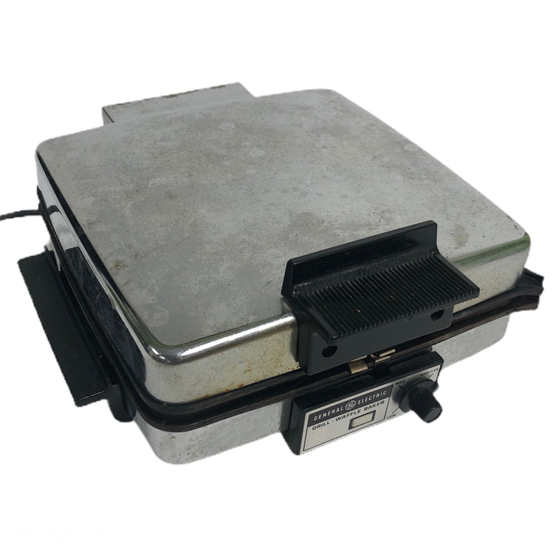 General Electric Non Stick Iron Grill Waffle Baker Press A2G48T