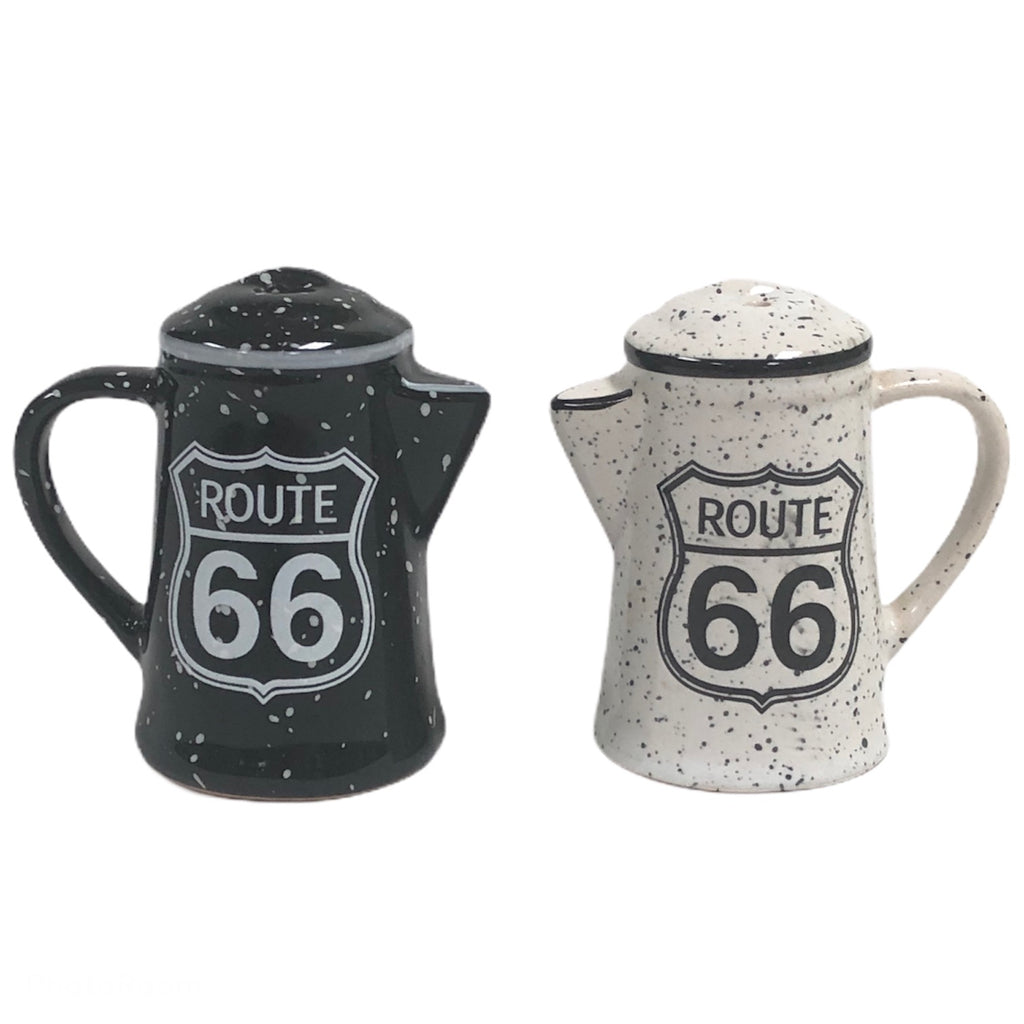 "Route 66 Pitcher 3"" Salt & Pepper Shakers"