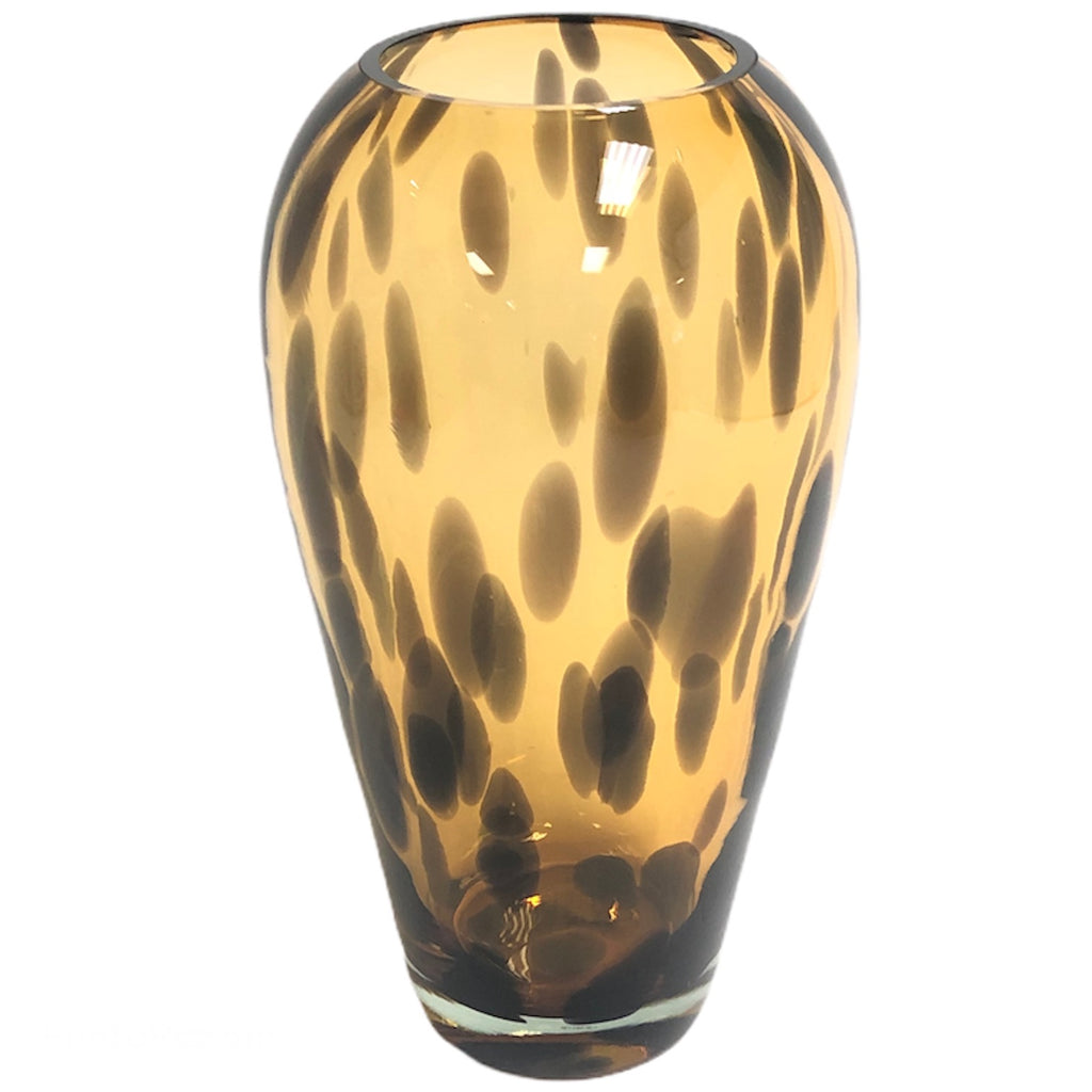 "Lenox Burnished Amber Tortoise Shell 14"" Vase 761527"