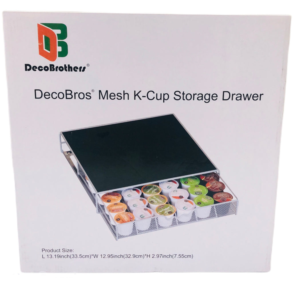 "DecoBros Mesh K-Cup 13""x13""x3"" Storage Drawer Unit KT-001-1"