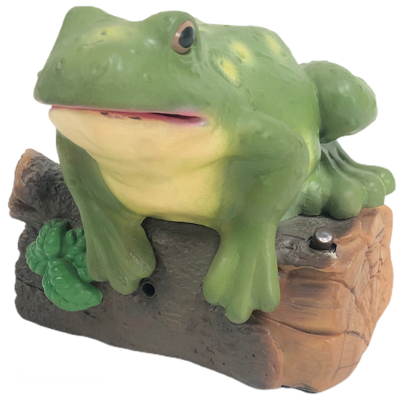 Gemmy Animated Friendly Talking Singing Musical Motion Sensor Frog On A Log Figure