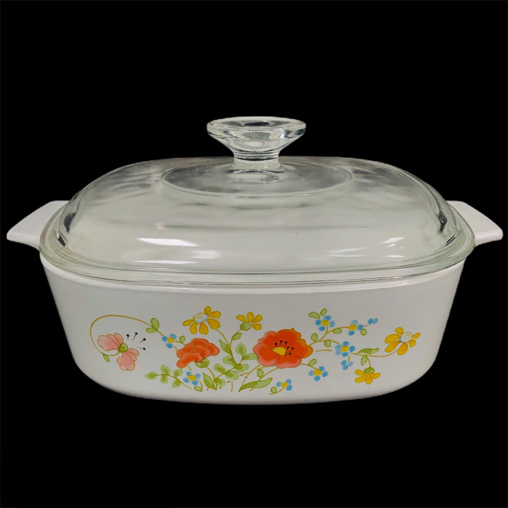 Corning Ware Wildflower 2 Quart Baking Casserole Dish A-2-B w/ Lid