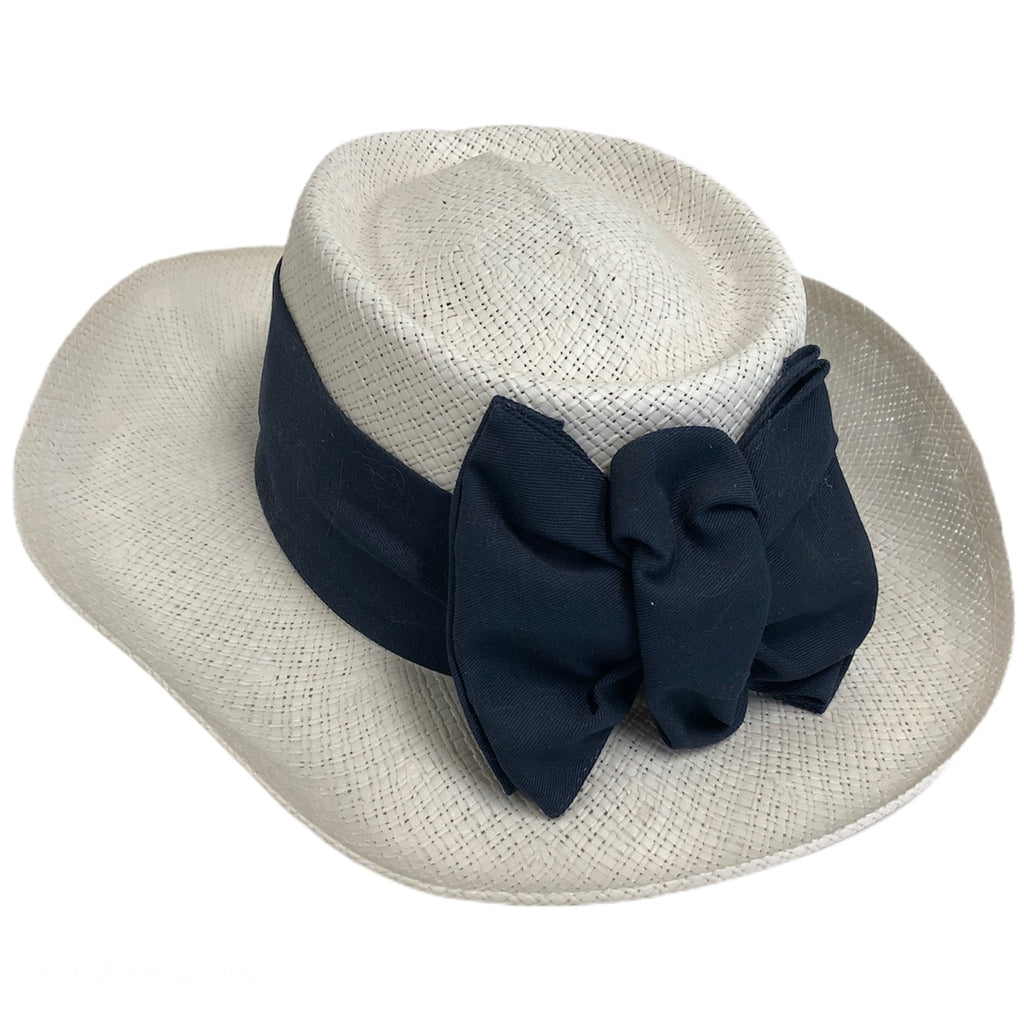 Imperial Dupont Coolmax Band White Golf Sun Blue Ribbon Bow Hat