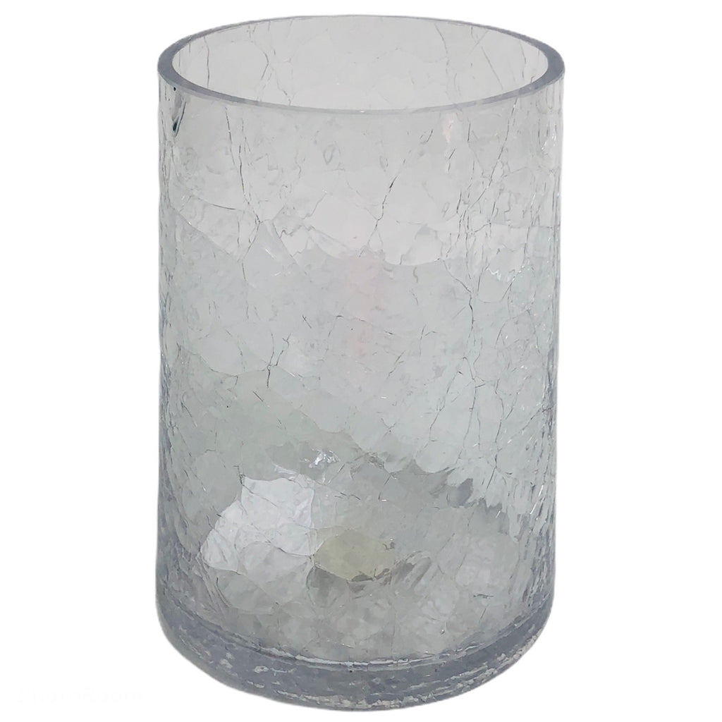 "Yankee Candle Tall Glass Medium Crackle 8.5"" Cylinder Vase 1288516"