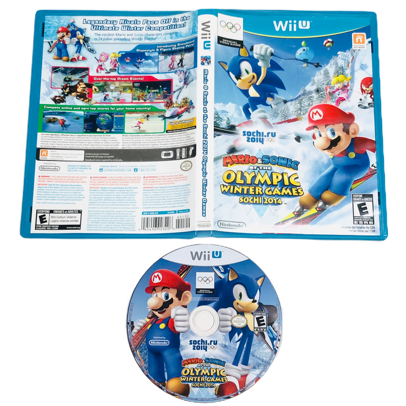 Mario & Sonic At The Olympic Winter Games Sochi 2014 Nintendo Wii U