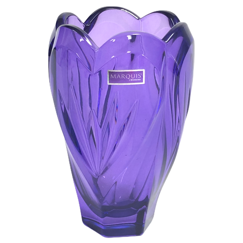 "Waterford Marquis Sweet Memories Purple Lead Crystal 6.5""  Vase"
