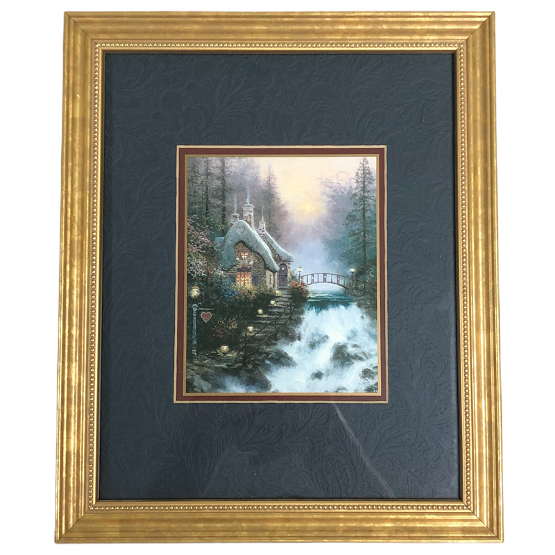 Thomas Kinkade Sweetheart Cottage 9x11 Framed Matted COA Accent Print