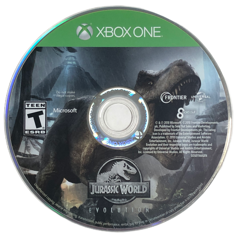 Jurassic World Evolution Microsoft Xbox One