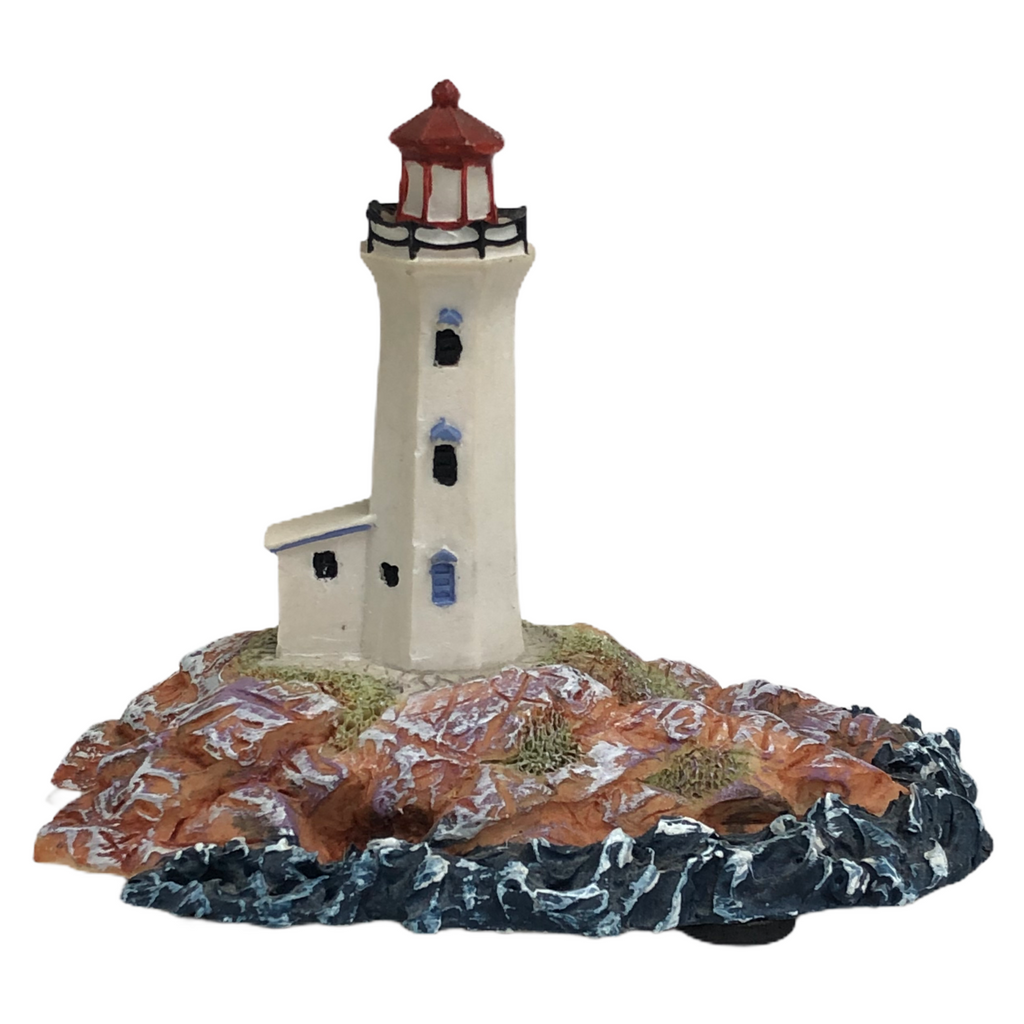 "Peggys Cove Lighthouse Of North America Hand Painted 4""x5"" Figurine 846578"
