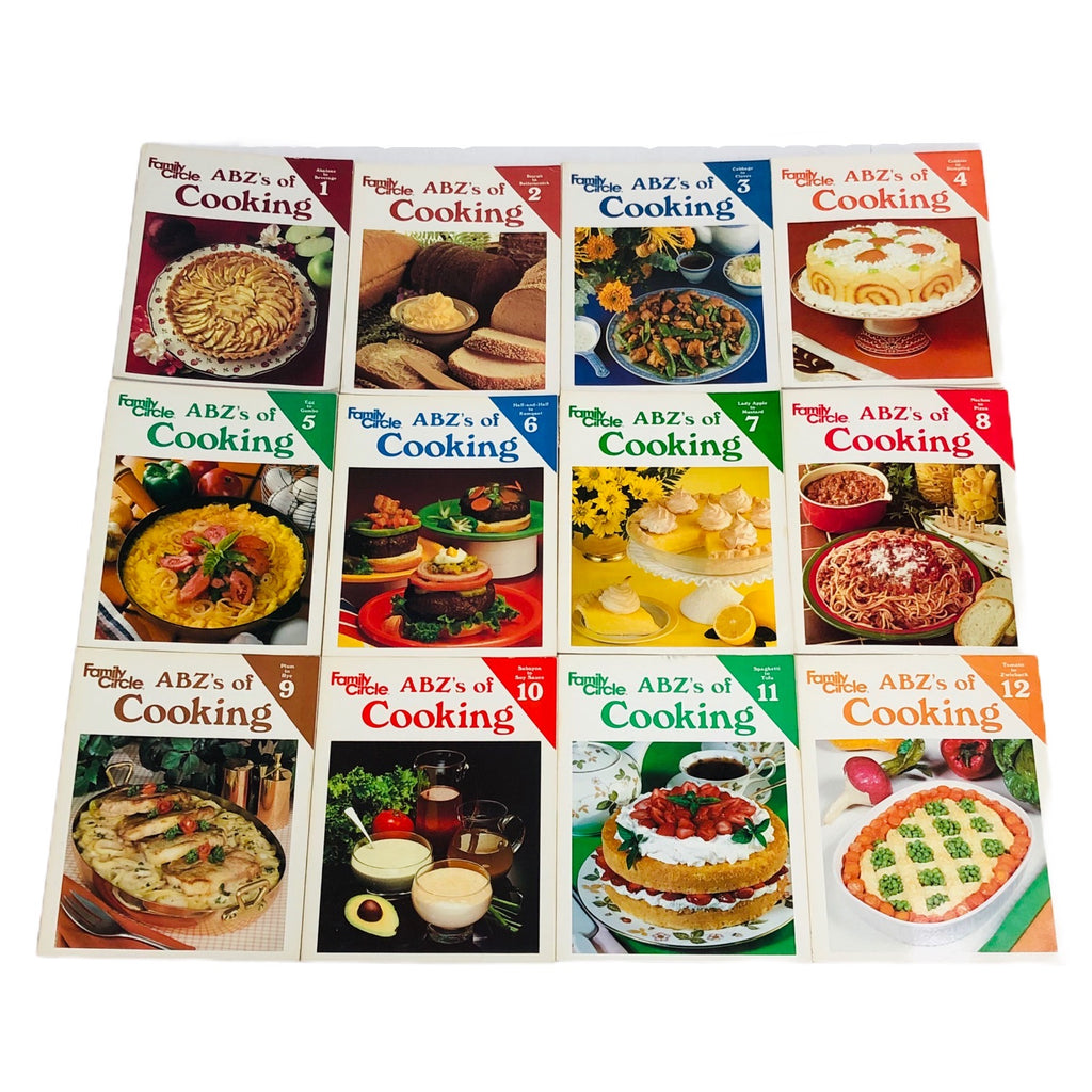 Family Circle ABZ's Of Cooking 1-12 Volumes Cook Book Set