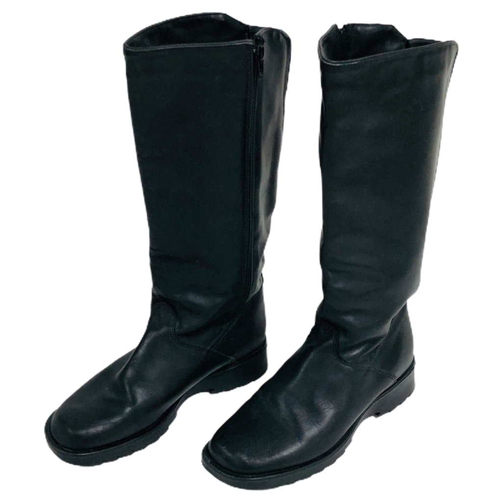 Blondo Womens Black Waterproof Zip Side Knee High Boots