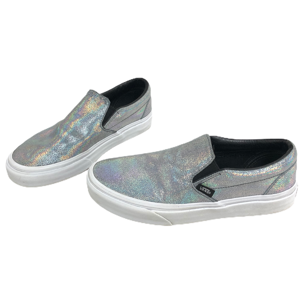 Vans Off The Wall Womens Shiny Rainbow Slip On Shoes T375
