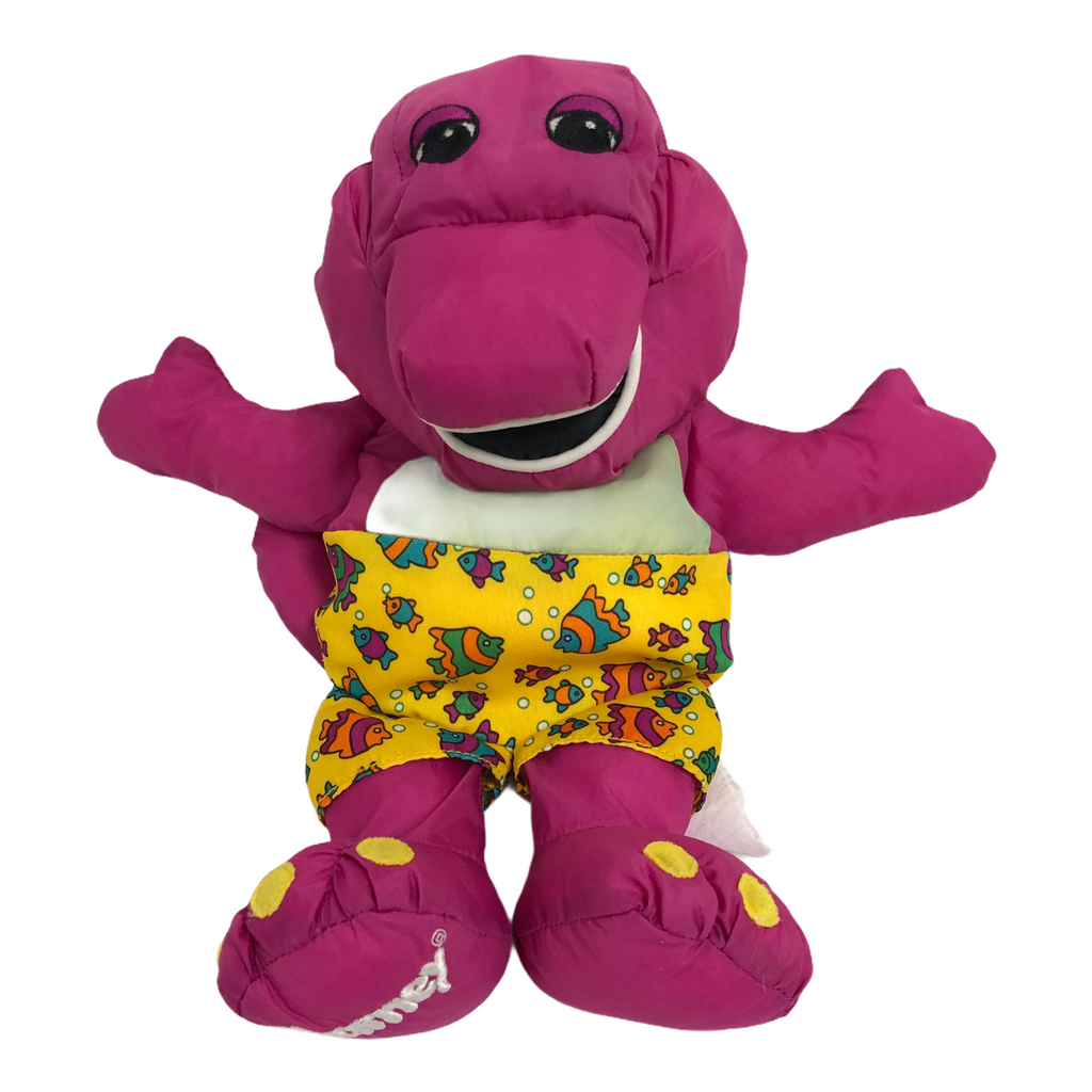 "Barney Playskool Water Pals 1993 Bathroom Bath Tub 12"" Plush Toy"